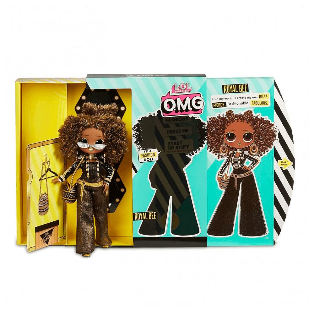Большая кукла LOL Surprise OMG Royal Bee Fashion Doll с 20 сюрпризами - 4